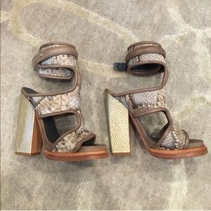 Monica Chiang snakeskin strappy heels😍